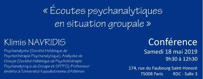 Écoutes psychanalytiques en situation groupale
